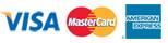 Visa, Mastercard en AMEX logo